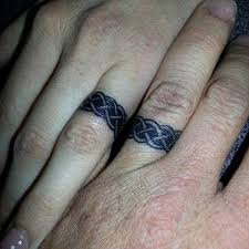sweet wedding ring tattoos