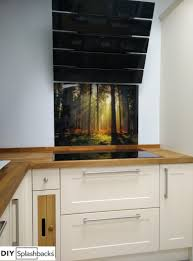 stunning woodland scene printed glass splashback whatever your