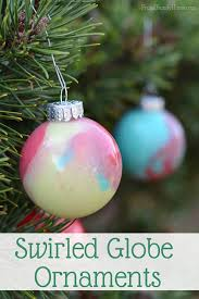 how to make your own swirled paint ornaments frugal