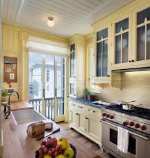 oak kitchen cabinets yellow walls 75 beautiful kitchen with yellow cabinets and wood