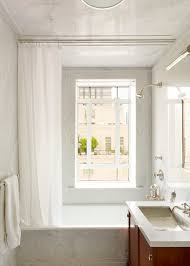 Duo Shower Curtain Rod Duo Shower Curtain With Undermount Sink Bathroom Transitional And