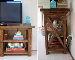 X Console Table Make Bake And Love Diy Rustic Console Table