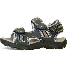 boys u0027strada u0027 sandals in navy and orange from dinky shoes uk