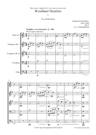 to a wild rose horn 2 trumpets trombone tuba sheet music by