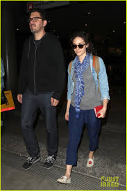 emmy rossum husband sam esmail return home from thanksgiving