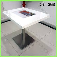 touch screen coffee table modern design solid surface table touch screen coffee table