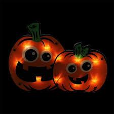 amazon com halloween lighted pumpkin window decoration home
