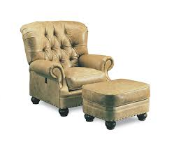 tilt back chair with ottoman leather loungers and foot stools direct from north carolina