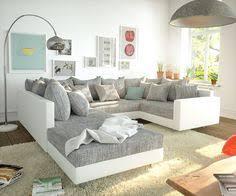 design wohnlandschaften big sofa marbeya 280x115 cm hellgrau mit hocker marbeya