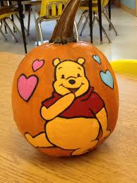my winnie the pooh painted pumpkin halloween pumpkins
