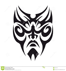 tribal face tattoo stock illustration image of illustration 4629122