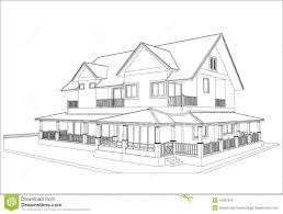 sketch design of house vector stock vector image 41952938