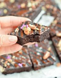 low carb fudgy avocado brownies sugar free sweetashoney