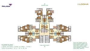 lakeshore greens layout and floor plan lodha palava