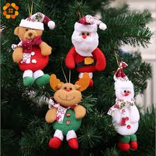 4pcs 4 types merry doll tree pendants ornaments for