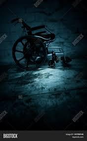 halloween haunted house background empty wheelchair in haunted house scary background for book cover