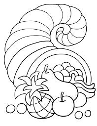 cornucopia coloring pages printable eson me