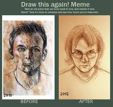 Portrait Meme - draw this again meme self portrait comparison by josiah