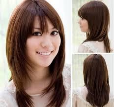 long layers with side bangs asian asian teenage cute long