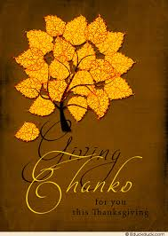 blazing fall tree thanksgiving card leaves autumn business message