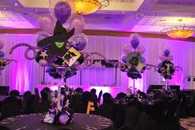 themed centerpieces broadway themed event broadway themed bat mitzvah event decor