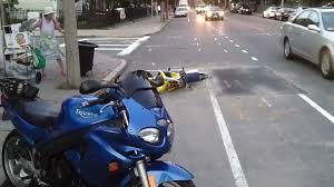 suzuki rm 85 dirt bike chase and crash aftermath boston 18 aug