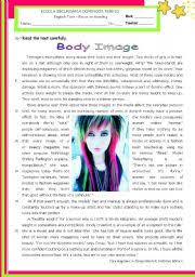 english teaching worksheets body image