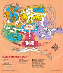 Epcot Orlando Map by Magic Kingdom Park Map 1986