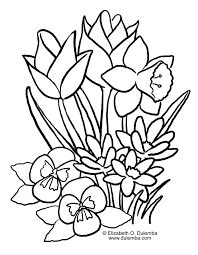 download spring flowers coloring pages
