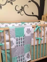 Owls Crib Bedding Cutest Owl Crib Bedding Sheet Patchwork Blanket Crib Skirt In