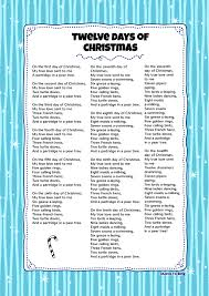 twelve days of christmas kids video song with free lyrics