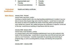 Kennel Assistant Resume Animal Care Resume Sample Reentrycorps