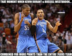 Westbrook Meme - nba memes kevin durant and russell westbrook went hard facebook