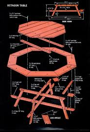 Free Large Octagon Picnic Table Plans by 380 Best Picnic Tables Images On Pinterest Picnics Picnic