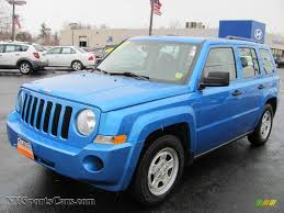 jeep dark blue 2008 jeep patriot sport 4x4 in surf blue pearl 593374