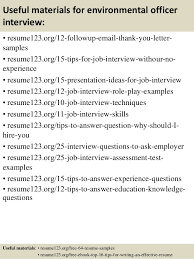 Offshore Resume Samples by Top 8 Environmental Officer Resume Samples