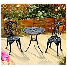3 piece patio cast aluminium bistro set garden outdoor furniture
