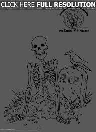 halloween skeleton coloring pages u2013 halloween wizard