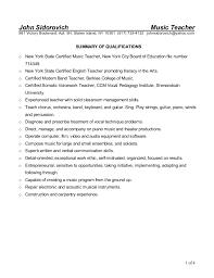 Music Teacher Resume Template Sample Resume Of Web Developer Essay Present Tense Past Tense