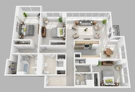 house design plans 3d 3 bedrooms washington square apartments luxury philadelphia apartments