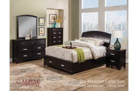 madison bedroom set alpine furniture madison bedroom collection