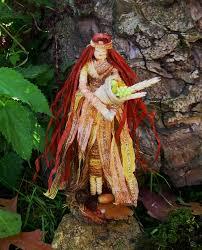 mabon goddess corn dolly handmade altar figure pagan wiccan