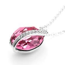amazon black friday jewelry swarovski menton ezil swarovski crystal pendant necklaces teardrop oval