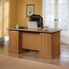 designer desks tables incredible altra wildwood wood veneer desk rustic gray