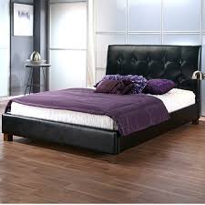 tuscan faux leather double bed frame