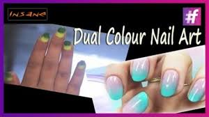 ombre style nail art dual color sponge nail art tutorial video