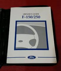 1998 ford f 150 f 250 owners manual owner u0027s guide in blue case