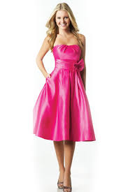 fuschia bridesmaid dress fuschia cocktail length bridesmaid dress