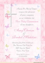 communion invitations catholic cross butterfly communion invitation girl s photo