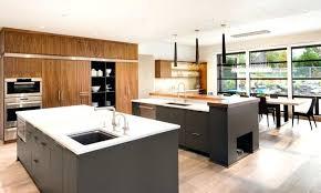 two island kitchen two level kitchen island glassnyc co